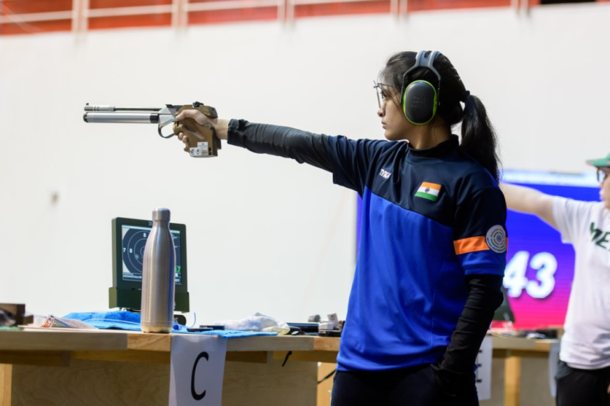 Shooting World Cup: 16 year old Manu Bhaker wins gold in 10m Air pistol.