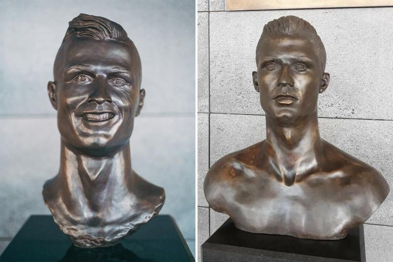 Controversial bronze bust of Cristiano Ronaldo replaced