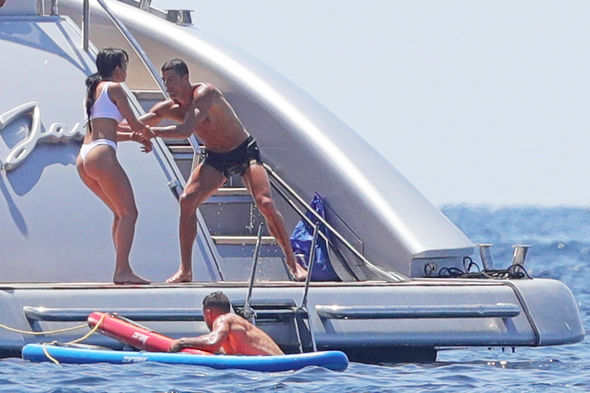 Star Striker Cristiano Ronaldo dashed his girlfriend Georgina Rodriguez in the ocean