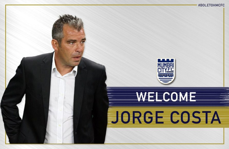 ISL: Jorge Costa appointed as chief coach of Mumbai City FC