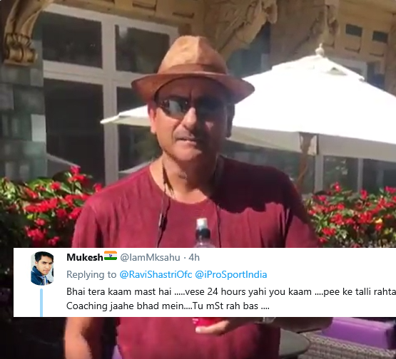 """Fans get furious on India coach Ravi Shastri's sponsored post, calls him a """"Alcoholic"""""""