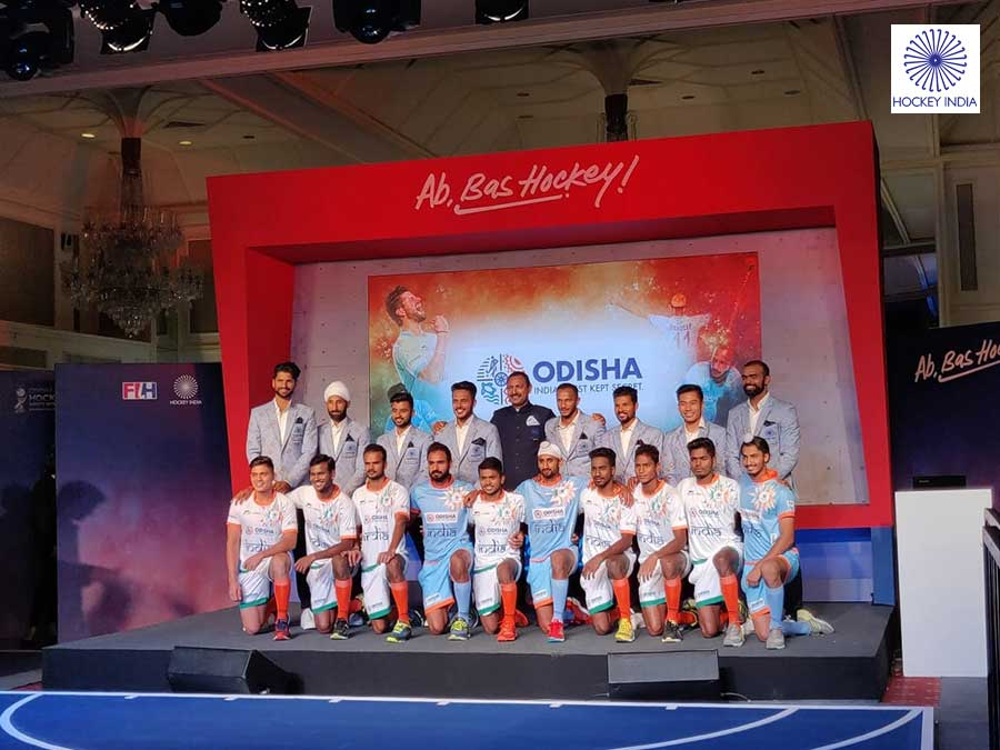 In Pictures: Indian hockey team jersey unveiled for Hockey World Cup