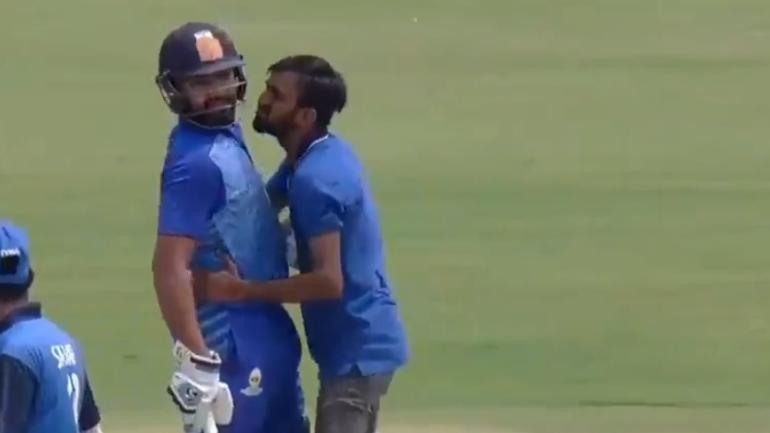 Watch: Ritika Sajdeh and Yuzvendra Chahal are jealous of a fan who kissed Rohit Sharma
