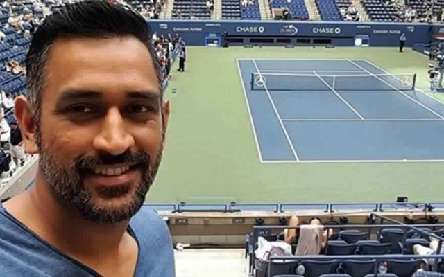 In Video: MS Dhoni says no to cricket and participates in a tennis tournament