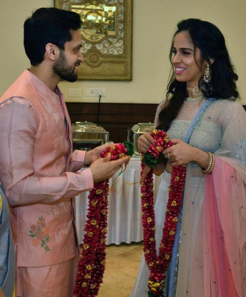 In Pics: Ace shuttler Saina Nehwal gets married to Parupalli Kashyap