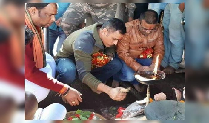 Watch: Possibly before leaving for his last tour, MS Dhoni seeks blessings at Deori temple
