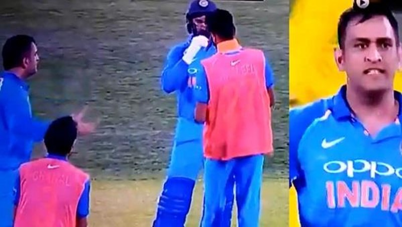 MS Dhoni abuses Khaleel Ahmed during the 2nd ODI against Australia