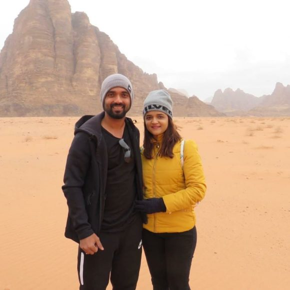 In pics: Away from cricket, Ajinkya Rahane is on a holiday with wife Radhika in Jordan