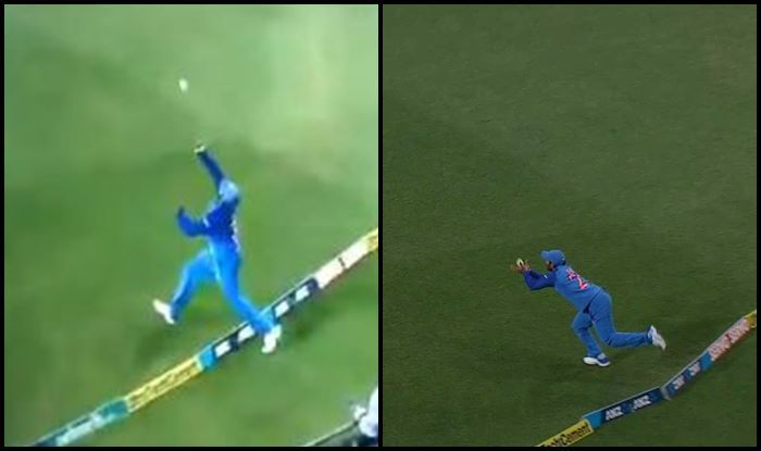 Watch: Dinesh Karthik takes an acrobatic catch to send Daryl Mitchell packing