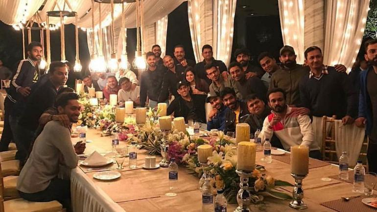 In pictures: MS Dhoni hosts team India for dinner at his home in Ranchi