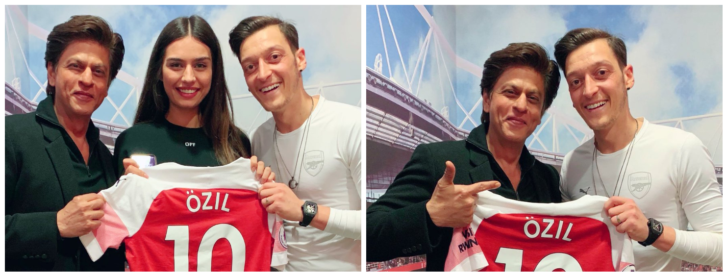 In pictures: Shah Rukh Khan visits Arsenal stadium, meets Mesut Ozil