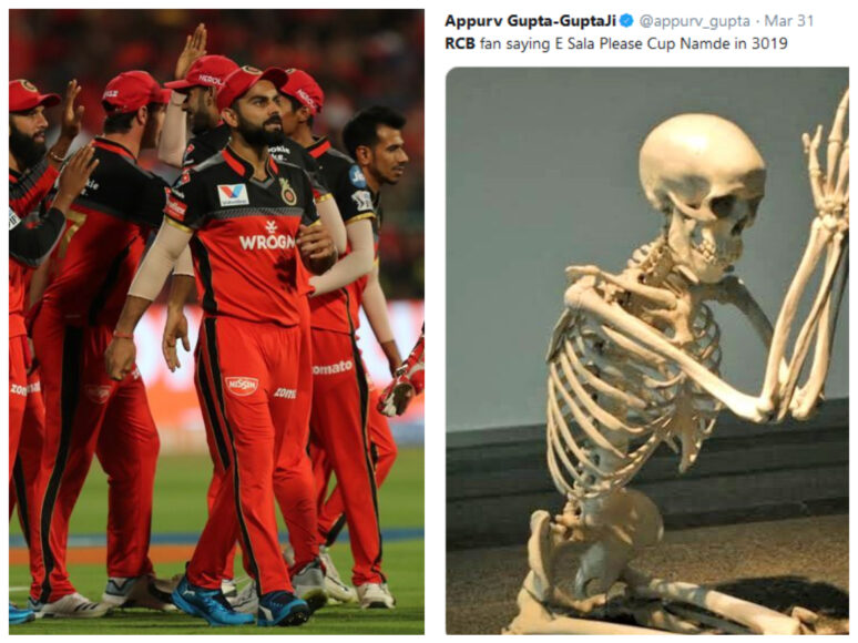 IPL 2019: Cricket enthusiast troll Virat Kohli and Team RCB for poor show