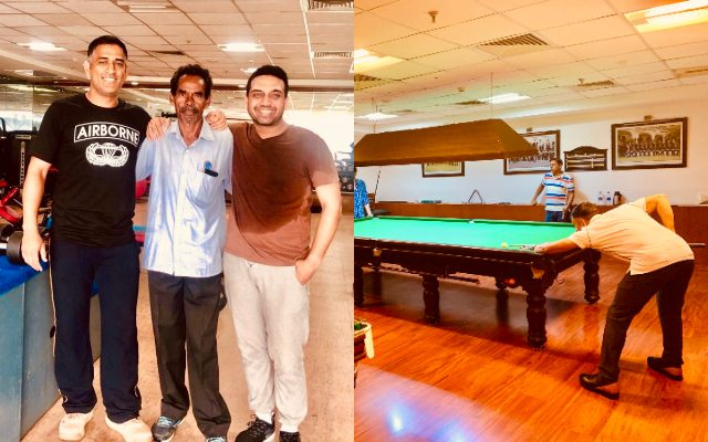 MS Dhoni spotted playing billiards with MLA in Ranchi