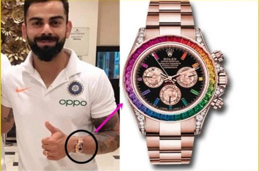 You'll be surprised to know the cost of Virat Kohli's gold plated watch