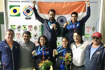 India tops all four ISSF World Cup in 2019 with 9 medals in Rio De Janerio World Cup