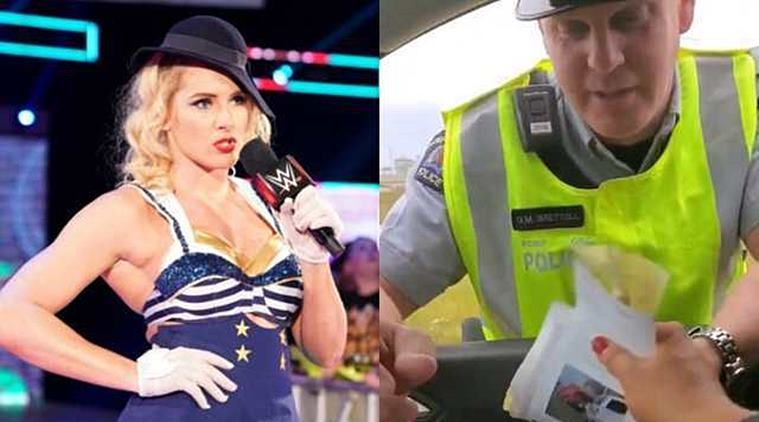 WWE superstar gets pulled over by a Canadian police officer for overspeeding