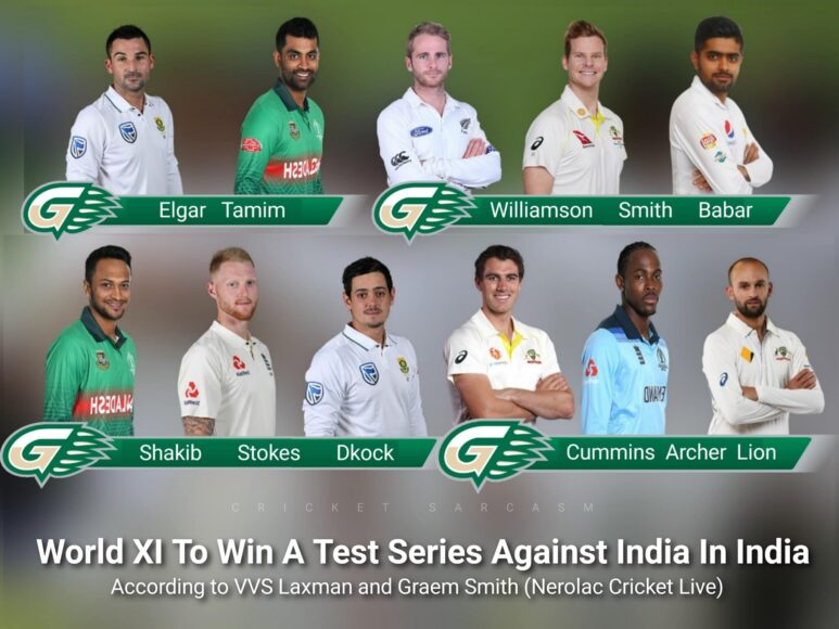 Graeme Smith and VVS Laxman pick the best 11 that can defeat India in tests
