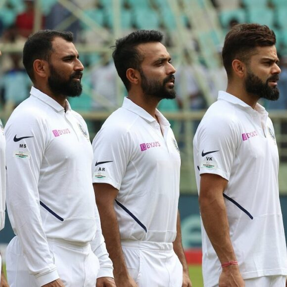 Indian cricket team wear jersey with Swachh Bharat Abhiyaan