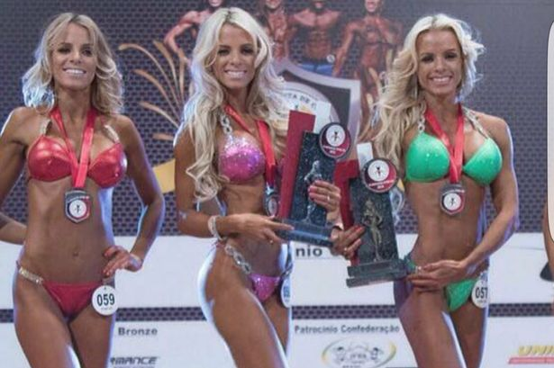 This trio of bodybuilder sisters are photocopies of each other, you'll be surprised