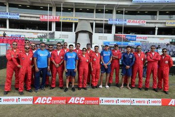 In pics: Indian team meet air force pilot ahead of 3rd T20