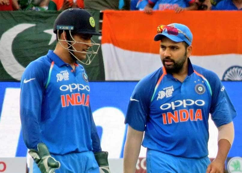 "Rohit Sharma remains ""captain cool"" on the question of MS Dhoni's future"