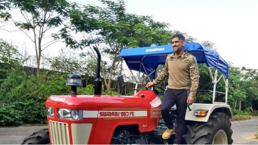 Mahindra group chairman Anand Mahindra steels the show after MS Dhoni buys a tractor